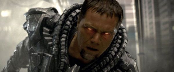General Zod (Michael Shannon) wants to conquer Earth in MAN OF STEEL.