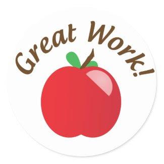 Great Work Apple Sticker sticker