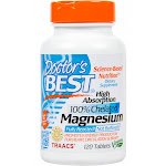 Doctor's Best High Absorption Chelated Magnesium Tablets - 120 count