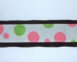 Pink and Lime Dots Pacifier Clip