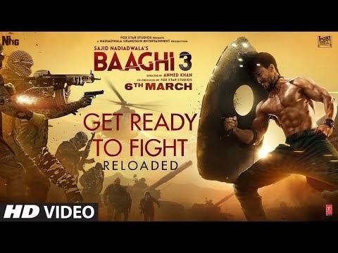 Get Ready To Fight Reloaded Lyrics in Hindi Font Baaghi 3 - Tiger Shroff, Shraddha Kapoor