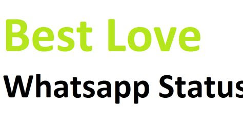 love whatsapp status update whatsapp status
