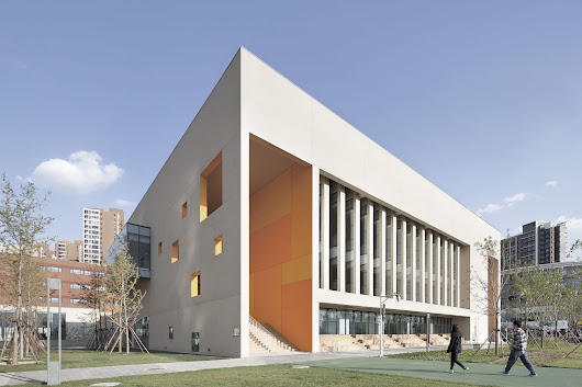 School with an Open Space / Beijing Institute of Architectural Design 6th Division | ArchDaily