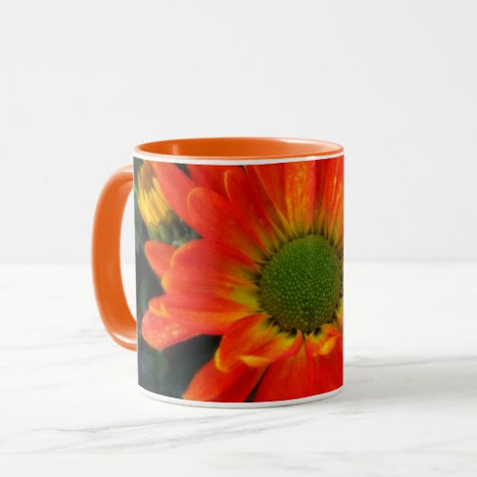 Orange Autumn Flower Beverage Mug
