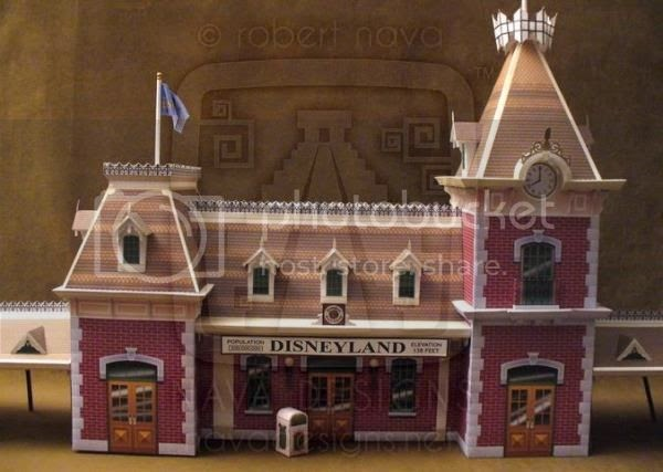 Papermau Main Street Train Station Paper Model By