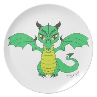 Hug Your Monster Dragon Plate fuji_plate