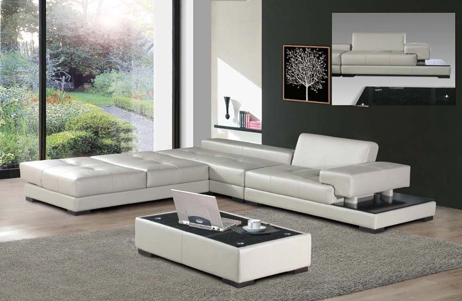 Decorate your living room with modern designer leather sofa ...