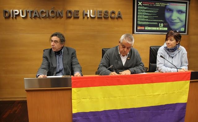 Presentación de las X Jornadas Culturales Republicanas en Huesca
