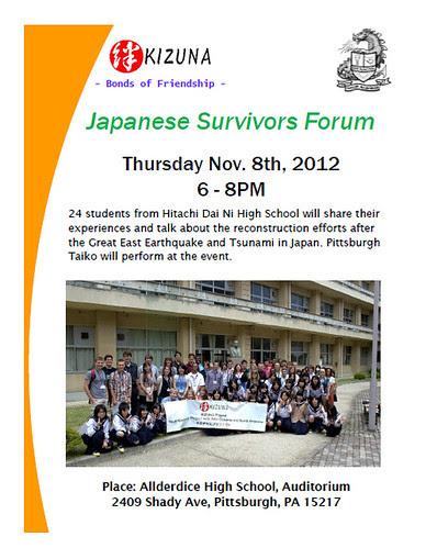 Japanese Survivors Forum Allderdice Pittsburgh