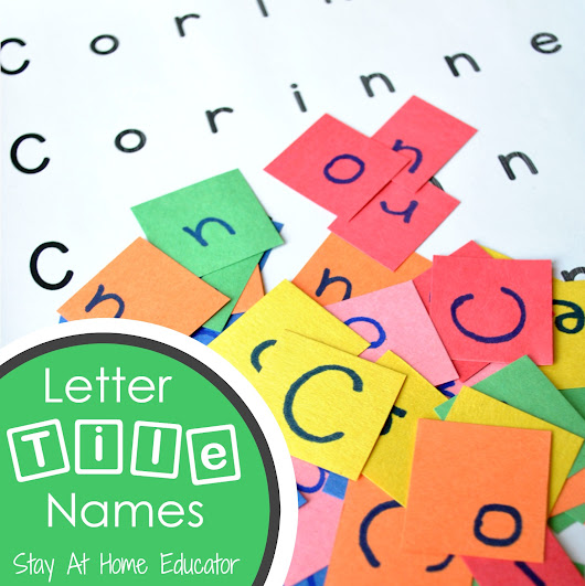 Letter Tile Names - a Name Recognition Activity