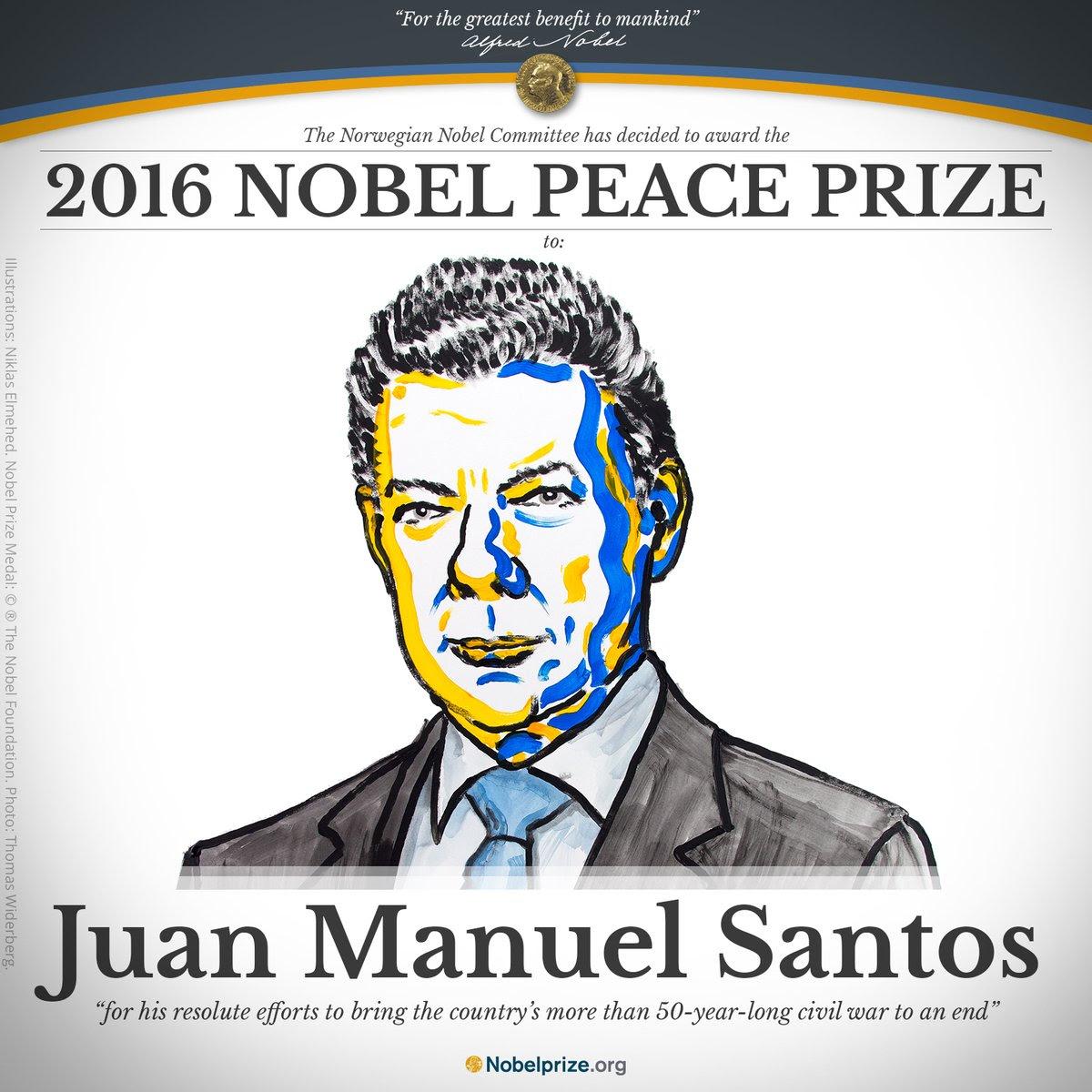 Resultado de imagem para Juan Manuel Santos comprou o Prêmio Nobel