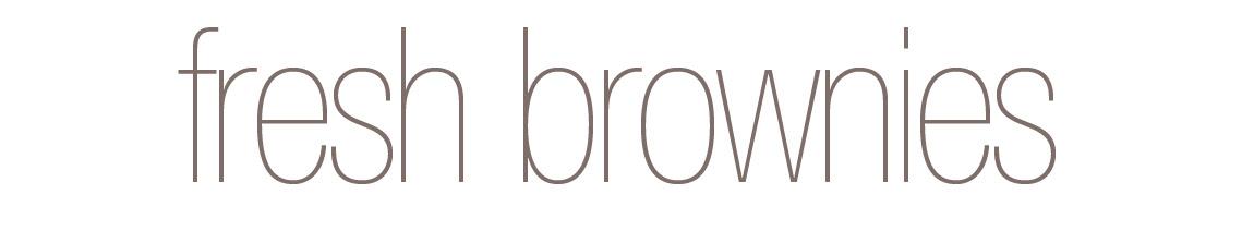 Fresh Brownies