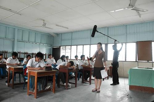 Shooting the classroom scenes in KURUS