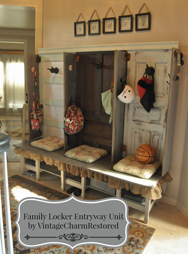 Family Locker Entryway by Vintage Charm Restored
