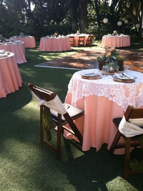 Tablecloths, Peaches and Lace on Pinterest