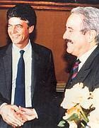 Il ministro Martelli e Falcone