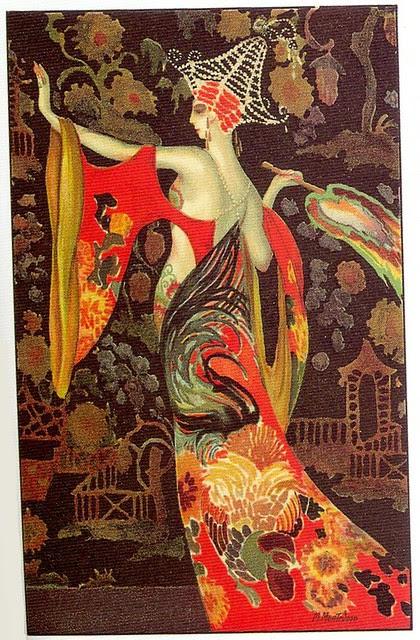 M. Montedoro, Art Deco postcard 5, 1920s