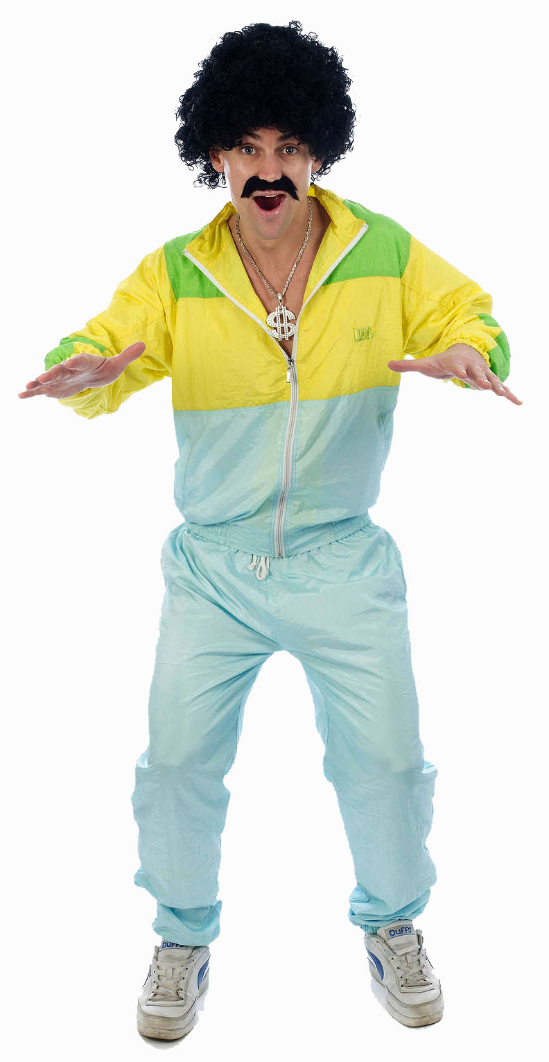 shell suit 80s scouser fancy dress tracksuit mens costume