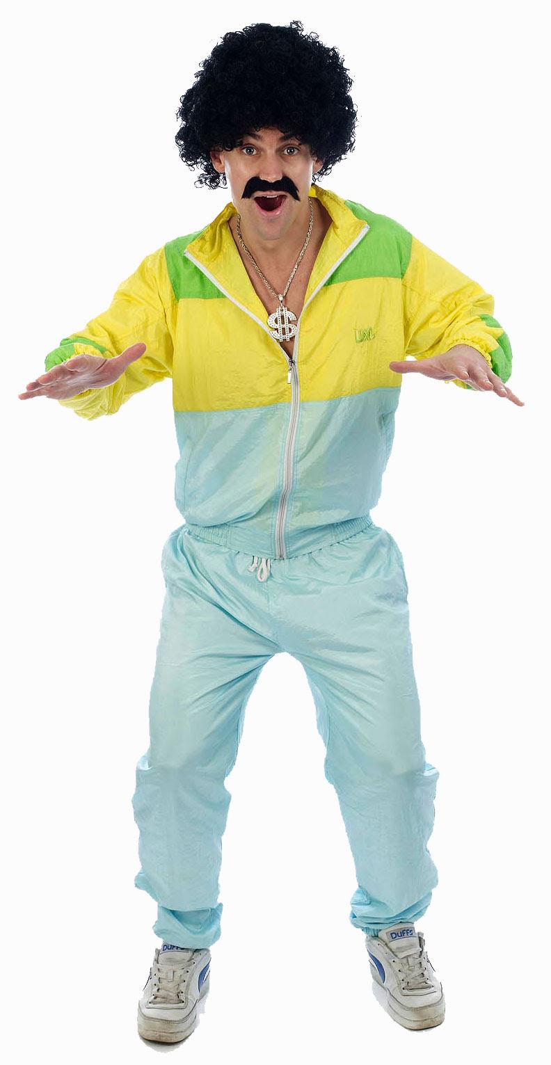 shell suit 80s scouser fancy dress tracksuit mens costume