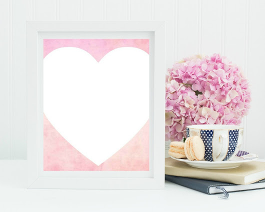 Watercolor Valentine's Printable's - My Uncommon Slice of Suburbia