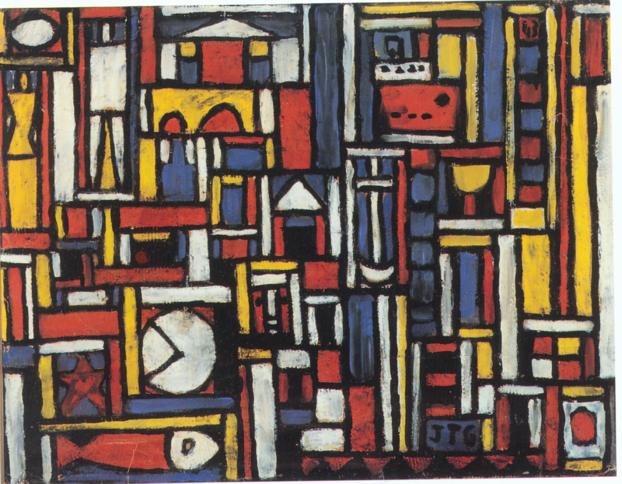 """Serverless Architecture"" Joaquín Torres-GarcíaOil on canvas, ca 1943Uruguayan Masters collection(collaboration from @alvrod )"