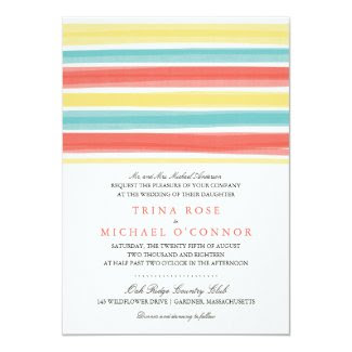 Enchanting Stripes | Wedding Invitation
