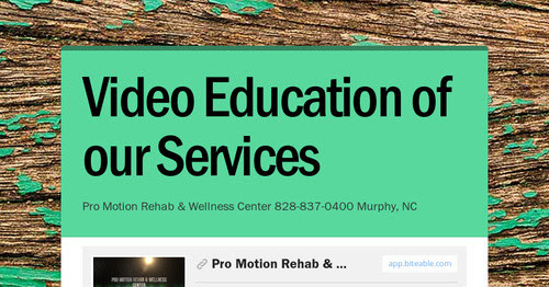 Video Education of our Services
