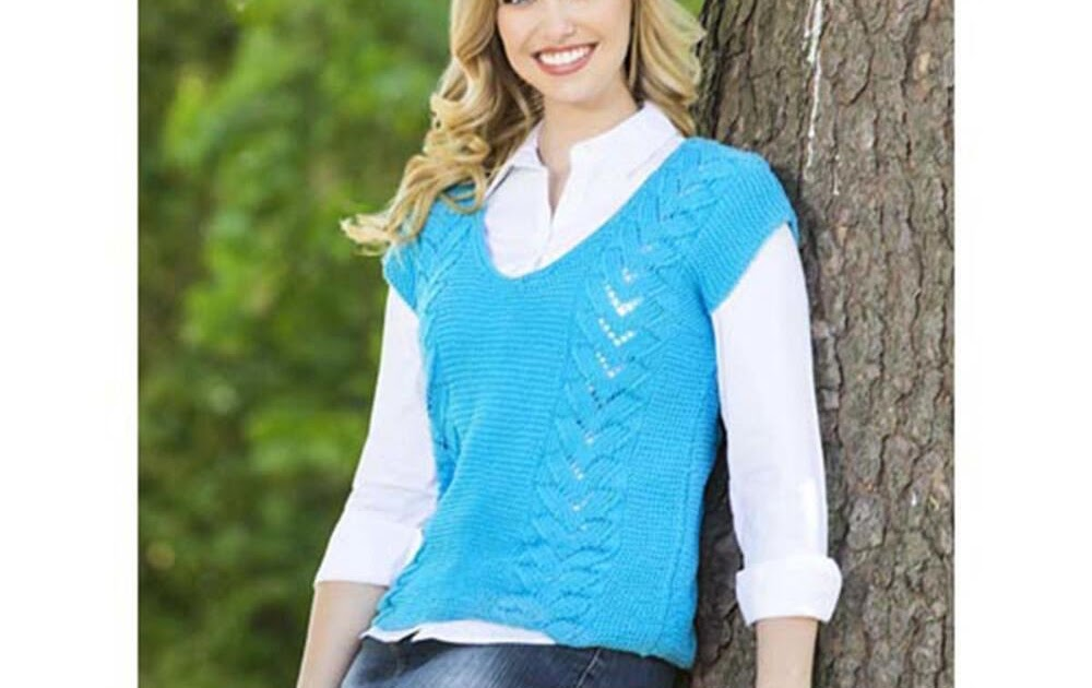 Knitting Pattern For Ladies Vest Top : Craft Passions: Ladies vest top..# free #Knitting pattern ...