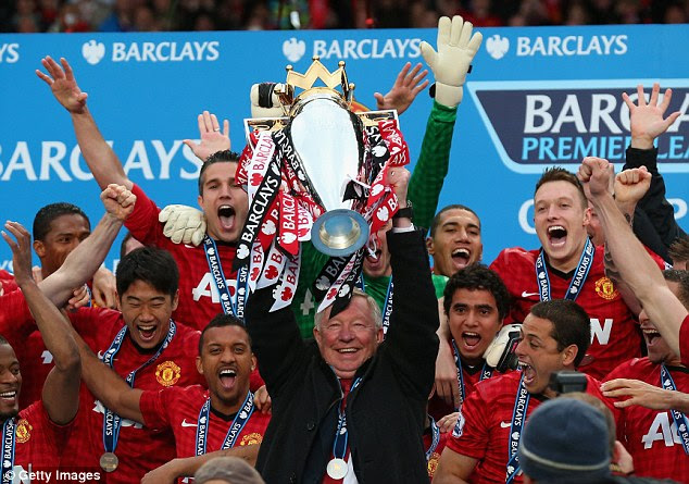 Sir Alex Ferguson won thirteen titles at Manchester United during his trophy-laden spell with the club
