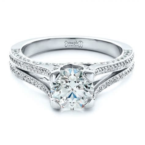 Custom Split Shank Engagement Ring #1440   Seattle