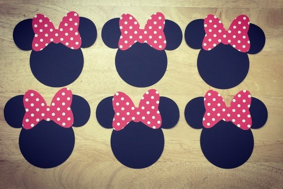 Minnie Mouse Ears Paper Cut Outs Crafts