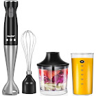 Comfee Electric Hand Immersion Blender, 4-in-1 Hand Mixer with 500ml Food Chopper, 600ml