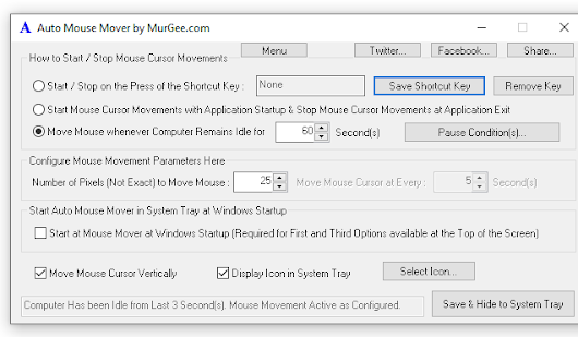 Auto Mouse Mover: Utility to Move Mouse Automatically