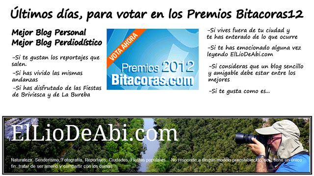 ültimos días para votar #Bitacoras12