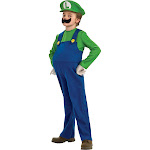 Super Mario Bros. Boys' Luigi Deluxe Costume