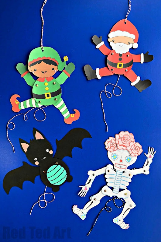 DIY Paper Puppets with Templates - Red Ted Art's Blog
