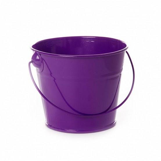 Purple Tin Bucket / Pail
