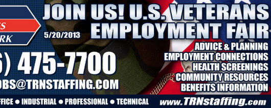 U.S. Veterans Employment Fair (Monday, May 20th)