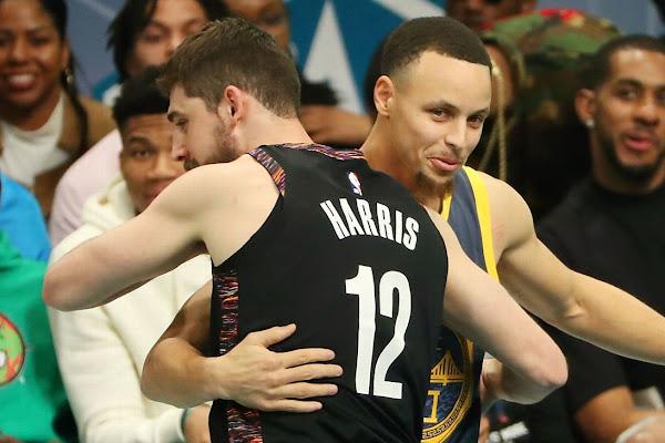 10f522fe2 Nets  Joe Harris shocks Warriors  Stephen Curry for 3-point title