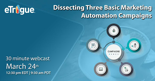 Webinar - Dissecting Three Basic Marketing Automation Campaigns