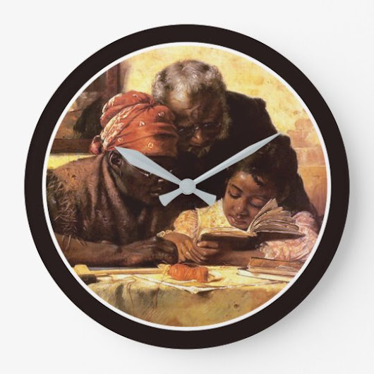 The Scholar - Harry Roseland Large Clock