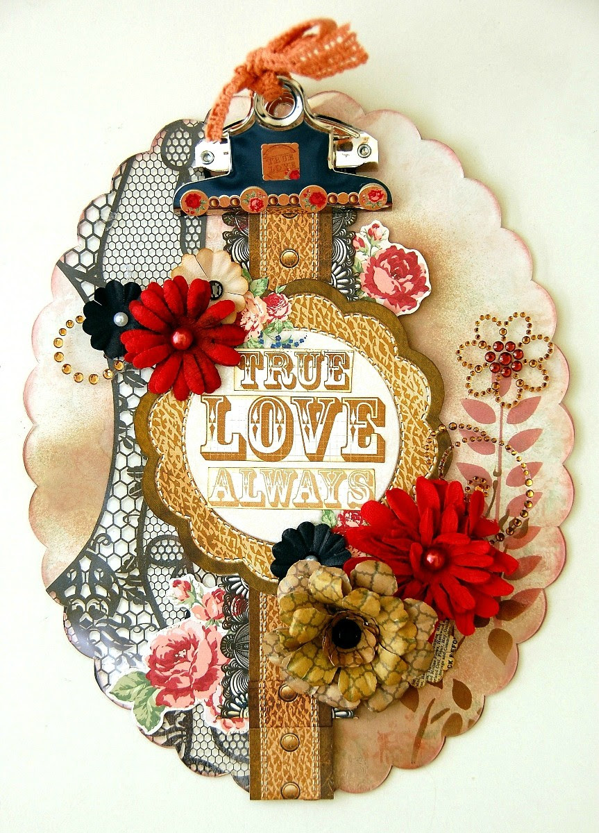 True Love Always Acrylic Clipboard by Irene Tan using BoBunny Love&Lace collection