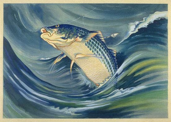 Chiura Obata, Striped Bass, 1930