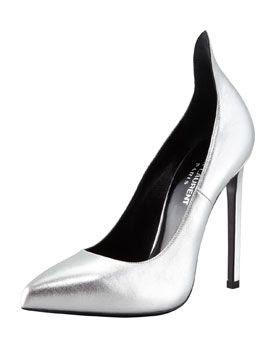 Saint Laurent Metallic Exaggerated Heel Pump