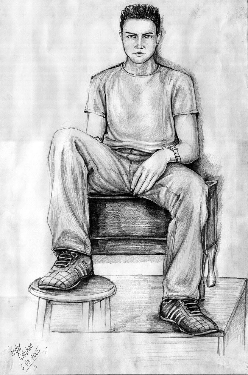 çizimler Axipixde Karakalem Mayıs