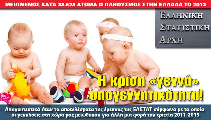 Αποτέλεσμα εικόνας για υπογεννητικότητα στην Ελλάδα
