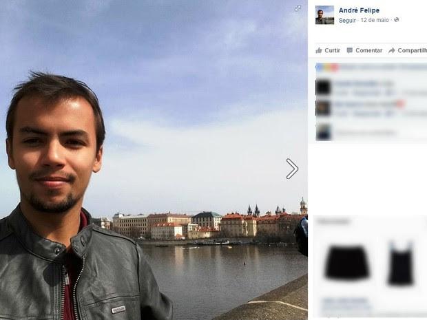 André Felipe foi encontrado morto dentro de banheiro (Foto: Reprodução/Facebook)