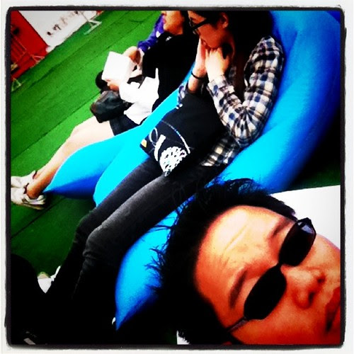 Resting outside the JIFF Guest Lounge