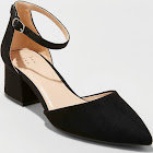 Women's A New Day Natalia Microsuede Pointed Toe Block Heeled Pumps