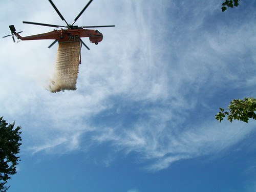 C 54 Sikorsky Sky Crane water drop by U. S. Fish and Wildlife Service - Northeast Region